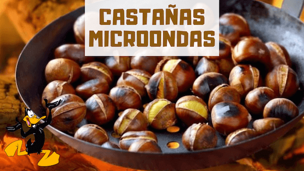 CASTAÑAS AL MICROONDAS