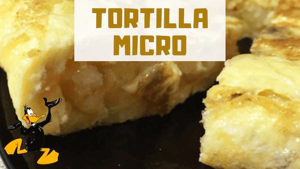 TORTILLA PATATA MICROONDAS